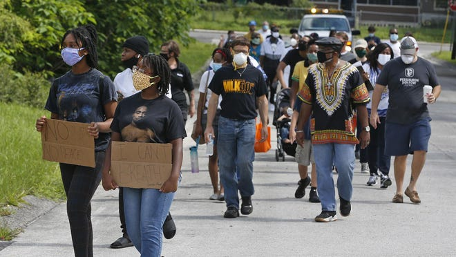 Juneteenth Unity March in DeLand, Saturday, June 20, 2020.