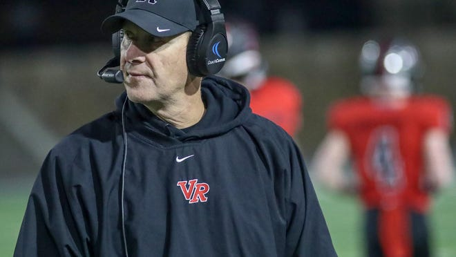 Vista Ridge head coach Rodney Vincent led the Rangers to a 45-7 win over district rival Leander Friday.