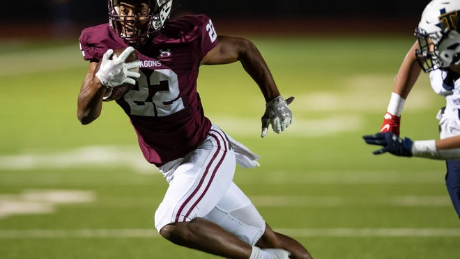 Running back Israel Morgan and Round Rock's football team are back in the Statesman's Fab Five Class 6A poll. The No. 5 Dragons face No. 4 Vista Ridge on Thursday.