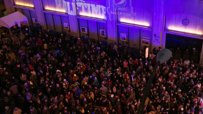 """Several thousand attended the free """"Hyped for Halftime"""" Concert in Rochester on Jan. 18."""