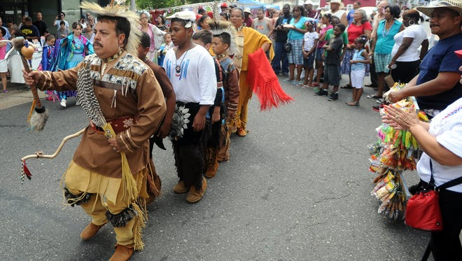 Members of a Cumberland County-based Nanticoke Lenni-Lenape tribe perform in Bridgeton in 2011. The tribe is suing the state over official recognition, but New Jersey maintains that only Congress can give that designation.