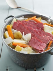 Corned beef and cabbage, a St. Patrick's day staple