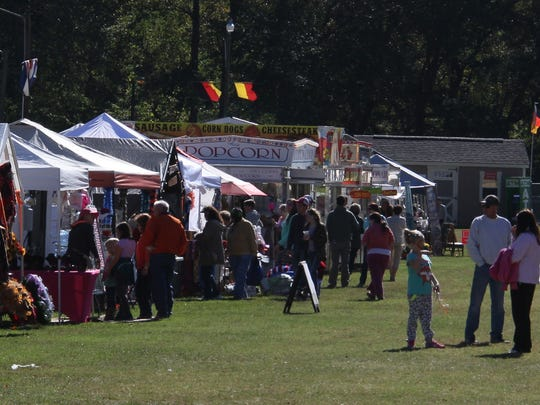 Vendors sold their custom made goods to festival attendees at Sertoma Field in Walhalla for the city's Oktoberfest.