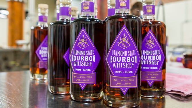 About 600 bottles of Painted Stave's Diamond State Bourbon Whiskey will go on sale Feb. 26.