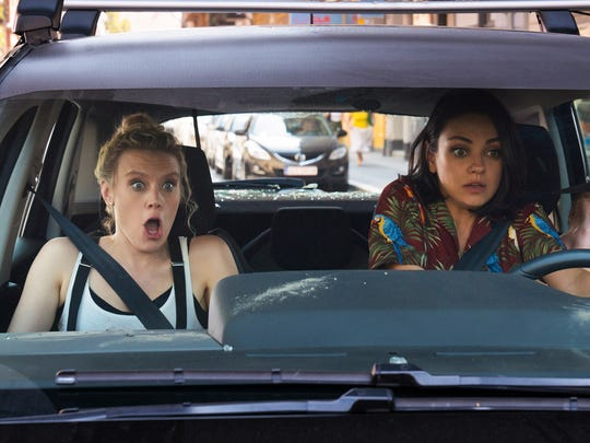"Kate McKinnon, right, is the funniest member of the cast even though Mila Kunis is supposedly the star in the comedy ""The Spy Who Dumped Me."""