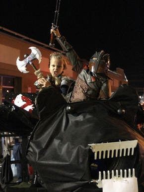 A ghoulish float at the 2014 Toms River Halloween Parade.
