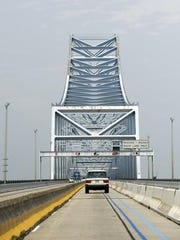 A motorist crosses the Commodore Barry Bridge in a 2008 file photo.