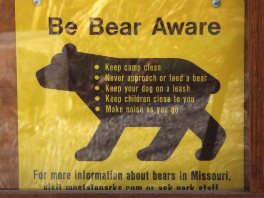 Hikers should take note of signs alerting them to black bear territory in the Ozarks.