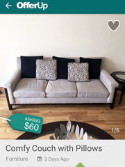 OfferUp (iOS/Android) posts listings in as little as