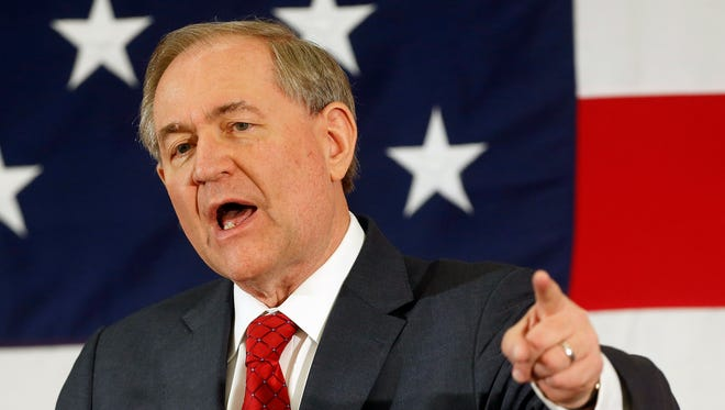 Former Virginia Gov. Jim Gilmore announced his presidential candidacy on Wednesday.