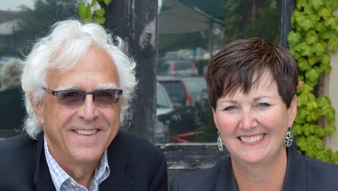Tom Wilson and Julie Murphy of Trajectory Healthcare.