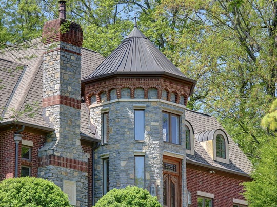 A front view of the English Tudor at 2060 Hillsboro Road, on the market for $6 million.