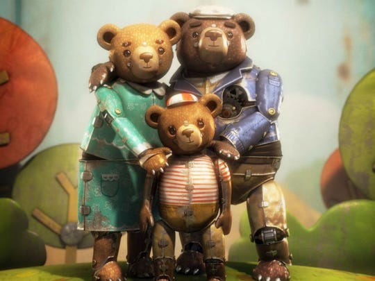 "The mechanical family in ""Bear Story."""