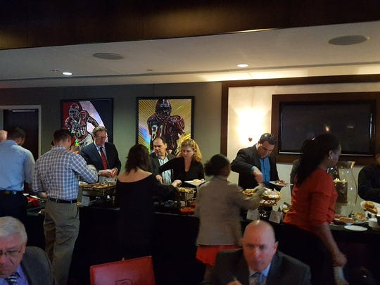 Honorees and their guests were treated to a luncheon