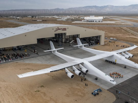 Stratolaunch Systems last week rolled its carrier aircraft
