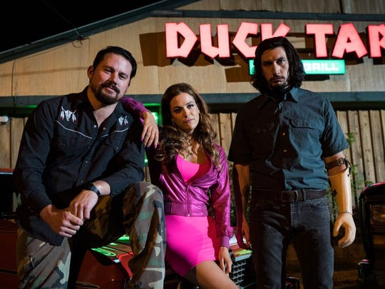 "Channing Tatum, Riley Keogh and Adam Driver star in the film ""Logan Lucky."" Tatum will appear with director Steven Soderbergh in Knoxville for a charity premiere of the film on Aug. 9."