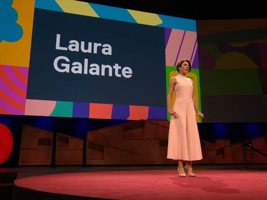 Laura Galante, appearing at TED, is a cybersecurity expert.