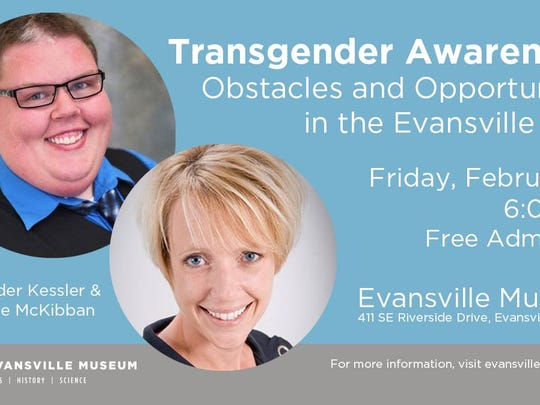 Transgender Awareness program is at the Evansville Museum Friday.