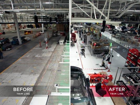 Tesla-factory-retooling