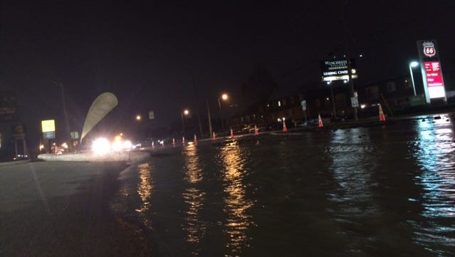 A water main break is to blame for closures on Madison Avenue.