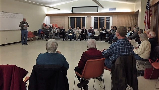 About 40 people gathered in Door County Jan. 9 to discuss solutions to income inequality.