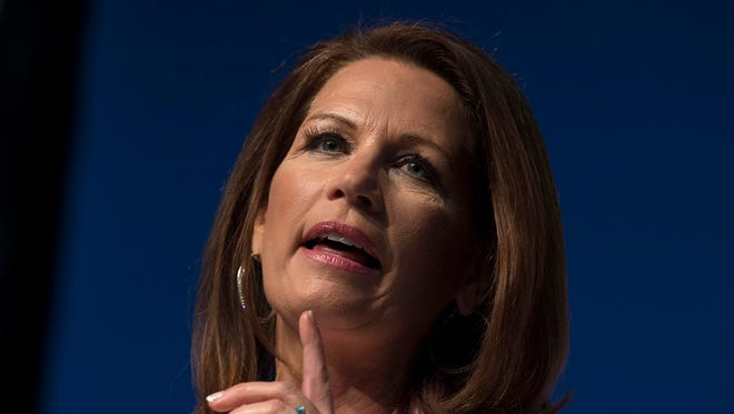 Rep. Michele Bachmann, R-Minn., speaks at Faith and Freedom Coalition's Road to Majority event in Washington, Friday, June 20, 2014.  Bachmann is not seeking re-election of her seat in Minnesota's 6th Congressional District. The race has not drawn much interest nationally.