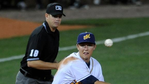 Biscuits third baseman Richie Shaffer was drafted by the Tampa Bay Rays as the 25th overall pick in 2012.
