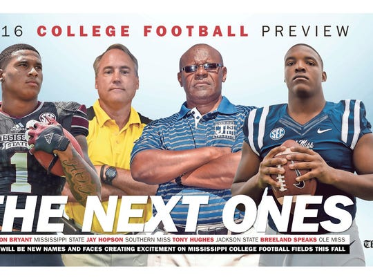 The Clarion-Ledger's 2016 college football preview special section cover
