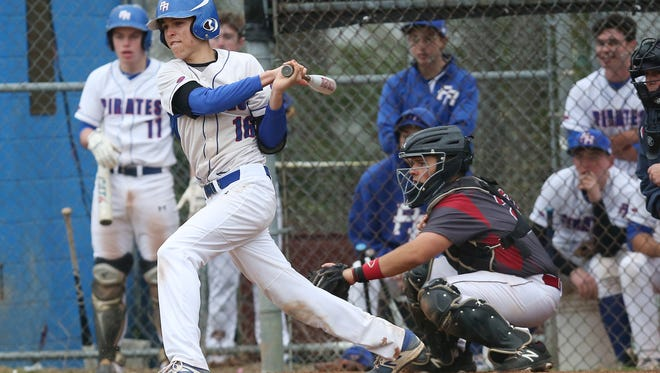 Pearl River defeated Nyack 12-0 in boys baseball action at Pearl River High School April 19,  2017.