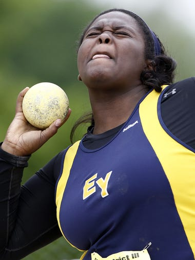Eastern York's Ashley Kerr, competes in the 2A shot