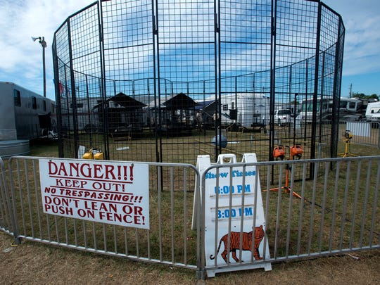 The tiger show has been canceled at the Pensacola Interstate