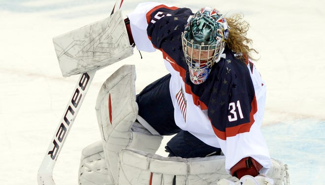 USA goaltender Jessie Vetter, a 3-2 loser to Canada, will be back in net during the semifinals against Sweden.