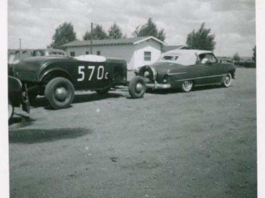 A photo from the Roadster's earlier days as a race car.