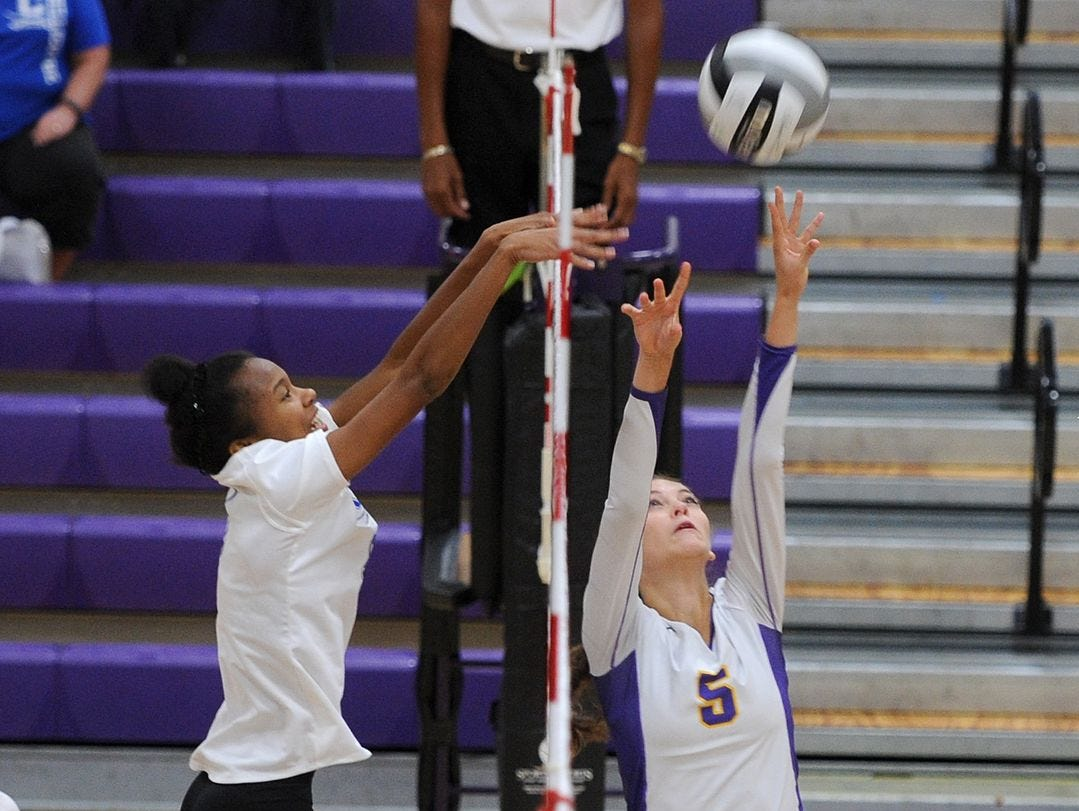 Unioto's Madi Eberst sets a ball against Chillicothe earlier this year. Eberst was named the 2015 Gazette Setter of the Year.