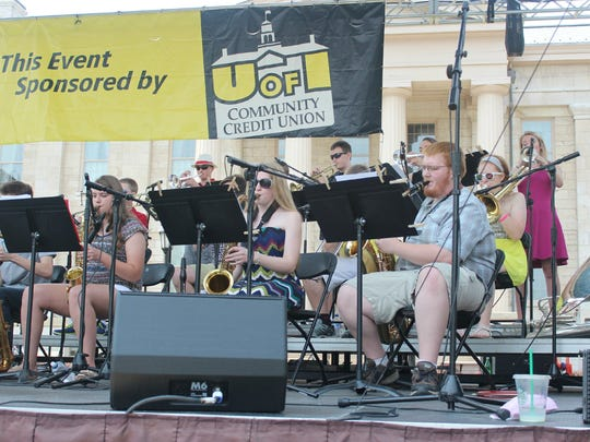 The North Corridor Jazz All-Stars play on the Iowa