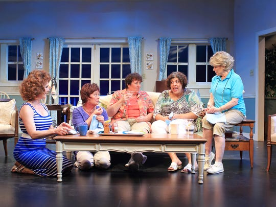 "The ""Dixie Swim Club"" cast at Flat Rock Playhouse includes, from left, Marcy McGuigan, Paige Posey, Betsy Bisson, Tauren Hagans and Nancy Johnston."