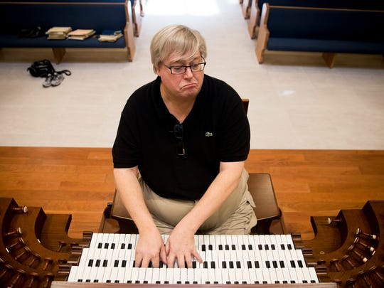 """Jim Cochran, the Vanderbilt Presbyterian ChurchÊdirector of music, gives a sampling of the pipe organ's playing capabilities inside of the Vanderbilt Presbyterian Church sanctuary Wednesday, October 4, 2017 in Naples. """"This is the Rolls-Royce,"""" Cochran said. """"This is what I've dreamed of playing."""""""