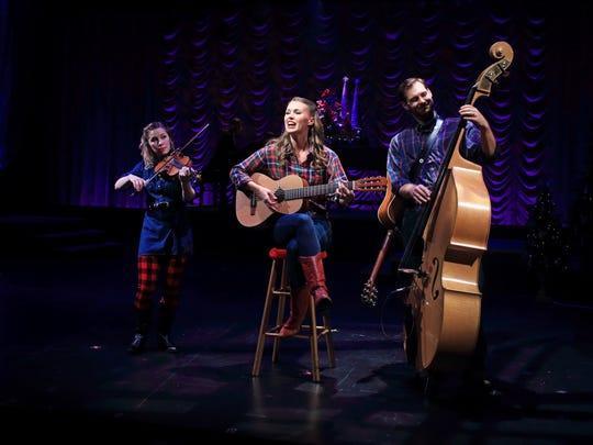 Kendra Jo Brook, Katie Barton and Ben Hope in A Flat Rock Playhouse Christmas.