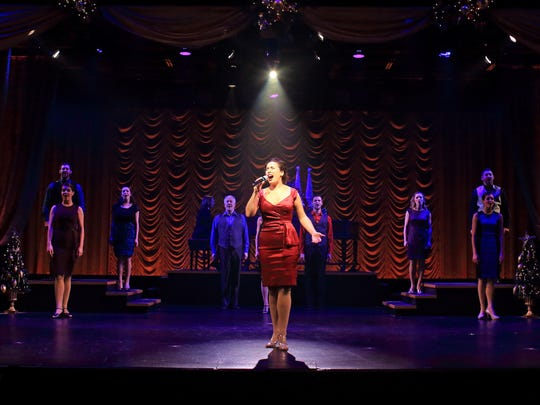 """Erin Rubico and the cast of """"A Flat Rock Playhouse Christmas."""""""