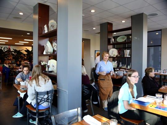 December 14, 2017 - Customers dine at Libro, 387 Perkins Ext., a restaurant inside the Novel bookstore.