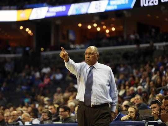 December 28, 2017 - Tubby Smith coaches the Memphis