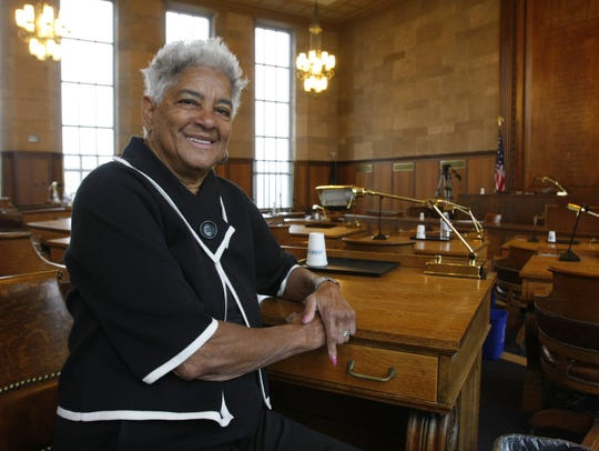Lois Bronz in the chambers of the Westchester County