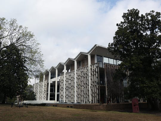 The modern 100,000-square-foot Rust Hall is set like a jewel in the heart of Overton Park.