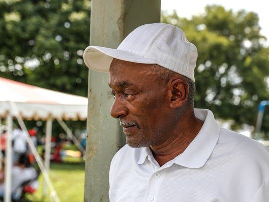 Brent Darden of the Meikel Street Forever Committee attends the 44th Annual Southside Picnic at Babe Denny Park in Indianapolis on Saturday Aug. 4, 2018.
