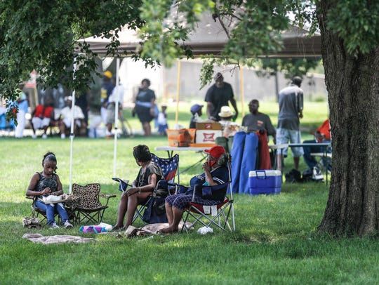 The annual picnic at Babe Denny Park reunites residents with former neighbors.