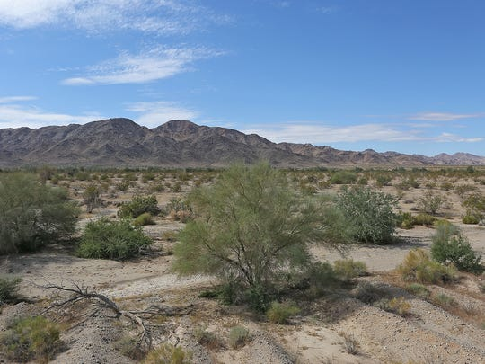 The open desert looking toward the Orocopia Moutains east of the Coachella Valley, Thursday, October 8, 2014