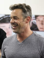 Nicholas Brendon laughs with fans at Alt*Con Saturday afternoon.