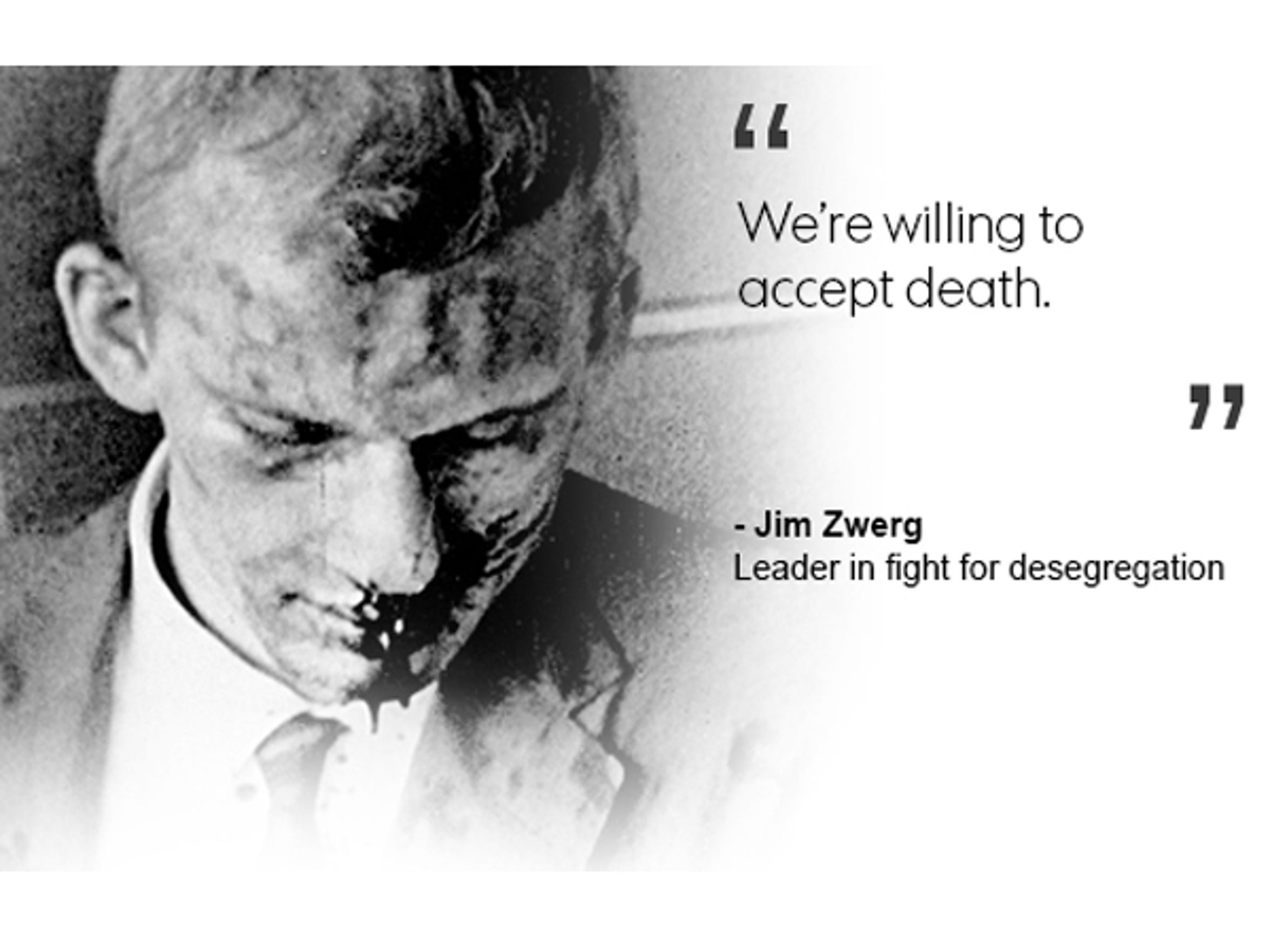 Jim Zwerg, leader in fight for desegregation