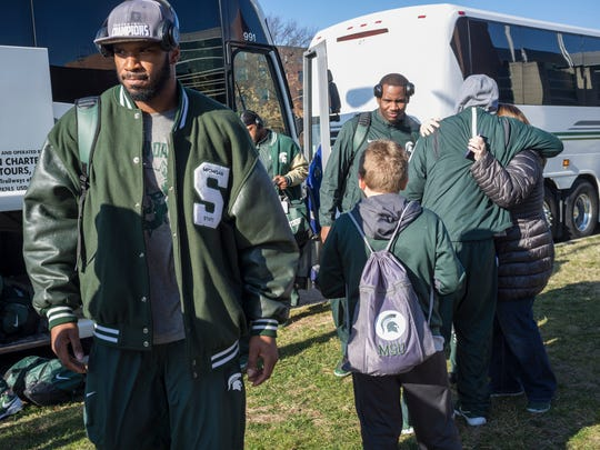 The MSU football team returns to campus after winning the Big Ten championship Sunday.