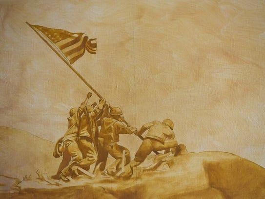 Artist Charles Kapsner has a scene of the Marine's